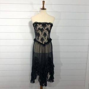 Vintage Andrea Kristoff for Escante Lace 80s Dress